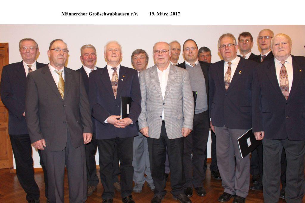 Autritt zum 60jährigem Jubiläum des Männerchores Großschwabhausen