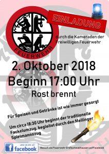 Flyer zum Fackelumzug am 2.Oktober